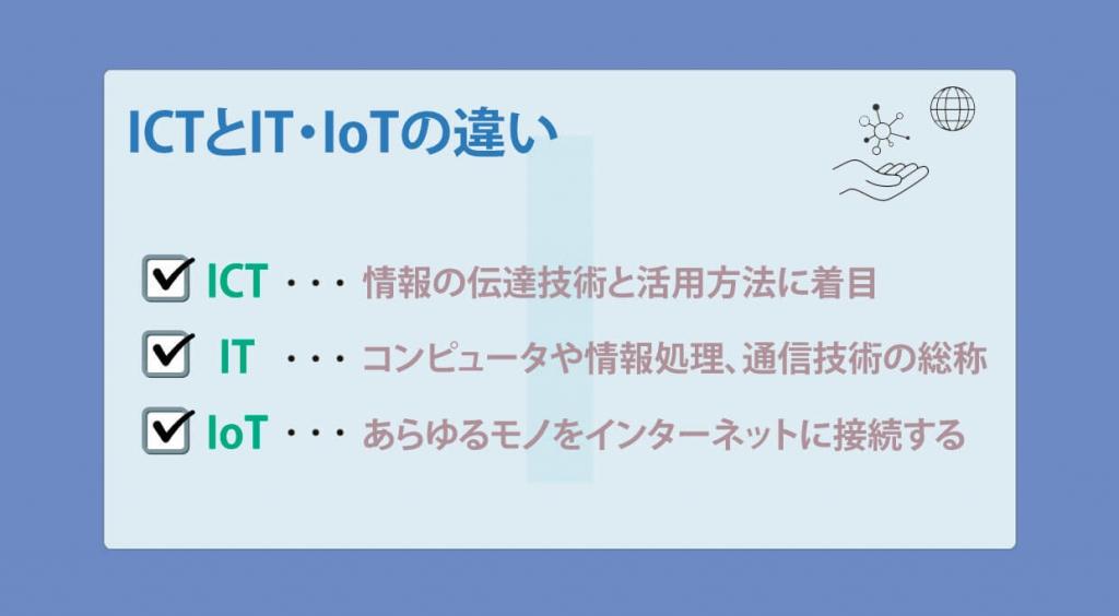 ICTとIT・IoTの違い